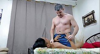 Daddy and Asian Boy Fucking Bareback