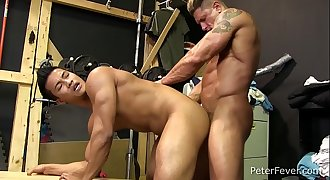 Lean Asian Jock Ken Ott Gets His Tight Youthfull Ass Reamed by Muscle Daddy Bryce Evans in THE BLACK PANDA Ep5