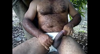 very nice hairy daddy stroking and jizzing