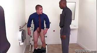 Sucking off straight macho man and straight youthful men getting blowjob