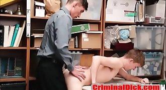 Twink Criminal Fucked naked